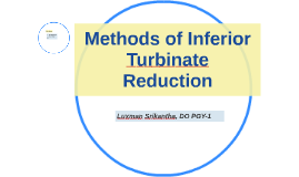 Methods of Inferior Turbinate Reduction