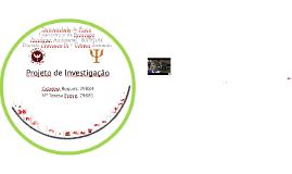 Projecto de investigação - Ambiental - Universidade Sénior