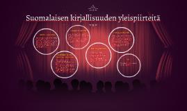 Suomalaisen kirjallisuuden piirteitä