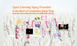 Lower Extremity Injury Prevention in the Sport of Competitive Jump Rope