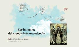 Ser humano: del mono a la trascendencia