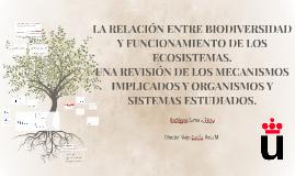 LA RELACIÓN ENTRE BIODIVERSIDAD Y FUNCIONAMIENTO DE LOS ECOS