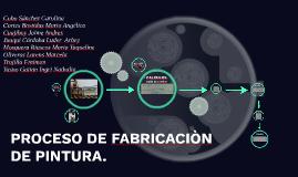 PROCESO DE fABRICACION  DE PINTURA.