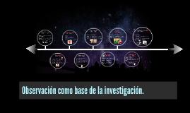 Observacion como base de la investigacion