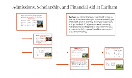 Admissions, Scholarship, and Financial Aid at Earlham