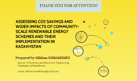 ASSESSING CO2 SAVINGS AND WIDER IMPACTS OF COMMUNITY-SCALE R
