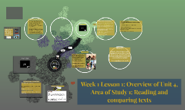 Week 1 Lesson 1: Overview of Unit 4, Area of Study 1: Reading and comparing texts