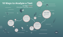 10 Ways to Analyze a Text with the Purpose of Developing an