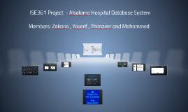 ISE361 Project  - Alsalama Hospital Database System