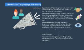 Psychology Benefits on Society
