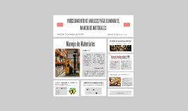 Copy of PROCEDIMIENTO DE ANALISIS PARA ELIMINAR EL MANEJO DE MATERIA