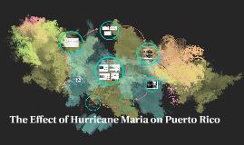 The Effect of Hurricane Maria