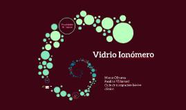 Vidrio Ionómero