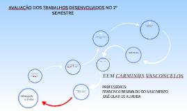 AVALIAÇÃO DE TRABALHO DESENVOLVIDO NO 2º SEMESTRE