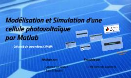 Modélisation et Simulation d'une cellule photovoltaique
