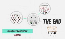 English Pronunciation Lesson 1