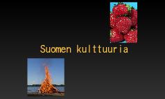 Suomen kulttuuria