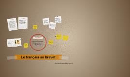 Le français au brevet
