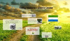 Tidlig historie i Sierra Leone