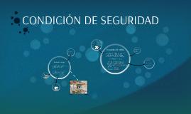 CONDICIÓN DE SEGURIDAD