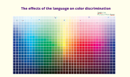 The effects of language on color discrimination