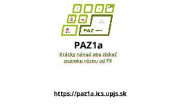 PAZ1a - organizácia (2018/2019)