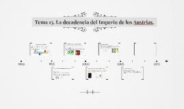 Tema 13. La decadencia del Imperio de los Austrias.