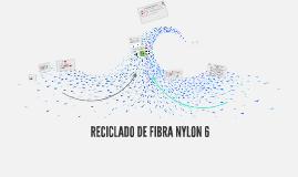 RECICLADO DE FIBRA NYLON 6