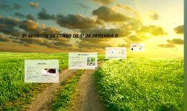 2ª REUNIÓN DE CURSO DE 1º DE PRIMARIA C