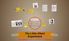 The Little Albert Experiment