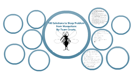 Solutions for mosquito sleeping problem