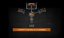 Présentation de l'épreuve d'économie et de droit en BTS