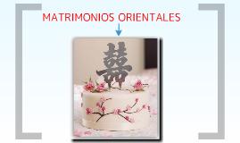 Matrimonios Orientales