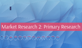Market Research 2: Primary Research