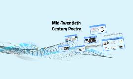 Mid-Twentieth Century Poetry