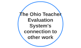The Ohio Teacher Evaluation System's connection to other wor