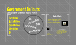 Government Bailouts