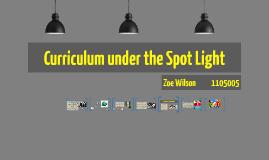 Curriculum under the Spot Light