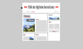 Ethik des digitalen Journalismus