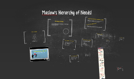 Maslow's Hierarchy of Needs!