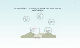 EL CURRICULO DE 5º DE PRIMARIA - LAS PALABRAS HOMÓFONAS
