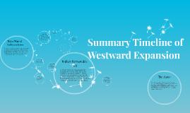 Summary Timeline of Westward Expansion