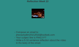 Reflection Week 13