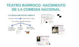 TEATRO BARROCO: NACIMIENTO DE LA COMEDIA NACIONAL