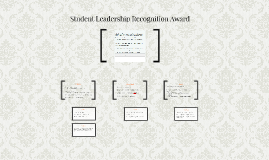 Student Leadership Recognition Award