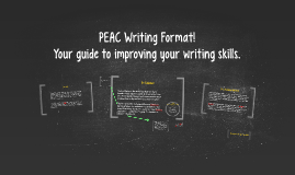 Copy of PEAC Writing Format!