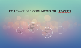 "The Power of Social Media on ""Tweens"""