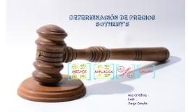 DETERMINACIÓN DE PRECIOS SOTHEBY'S