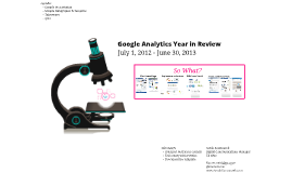 Google Analytics Year in Review for GSA