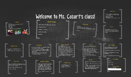 Welcome to Ms. Cozart's class!